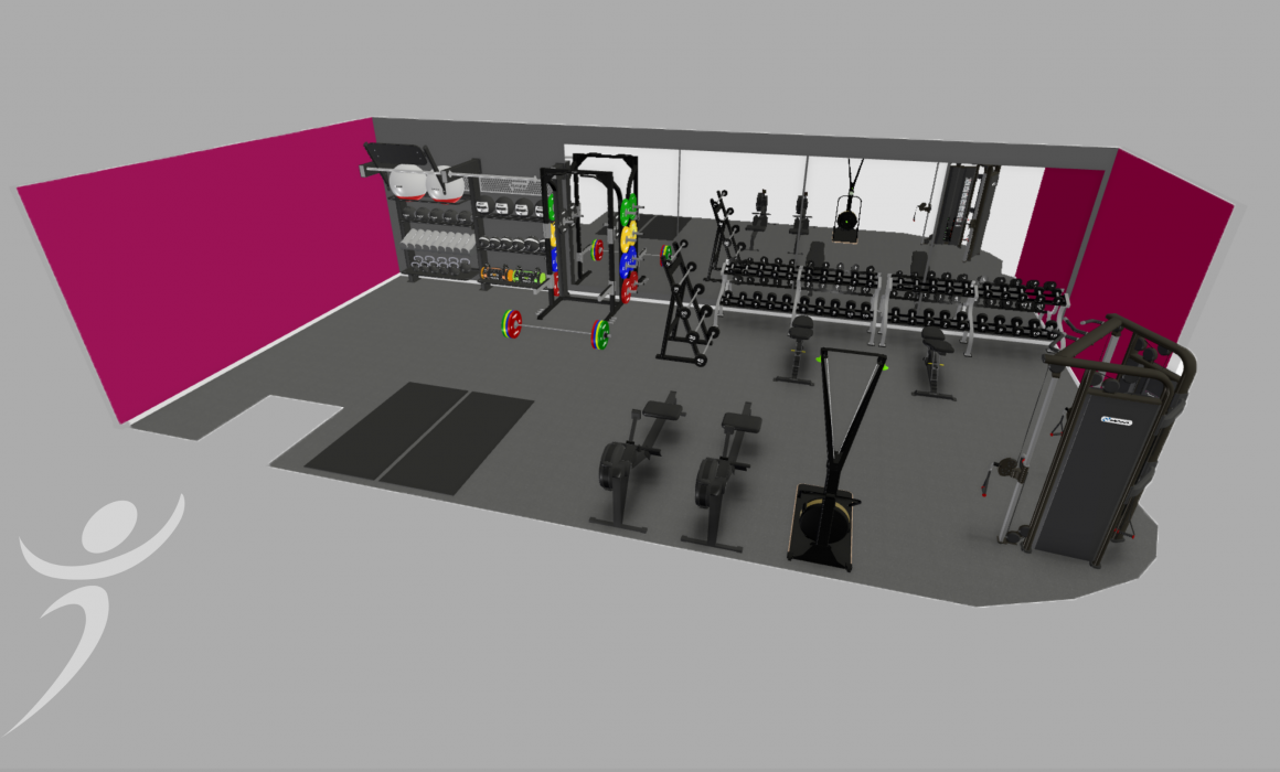 Floor plan of new Corwen gym